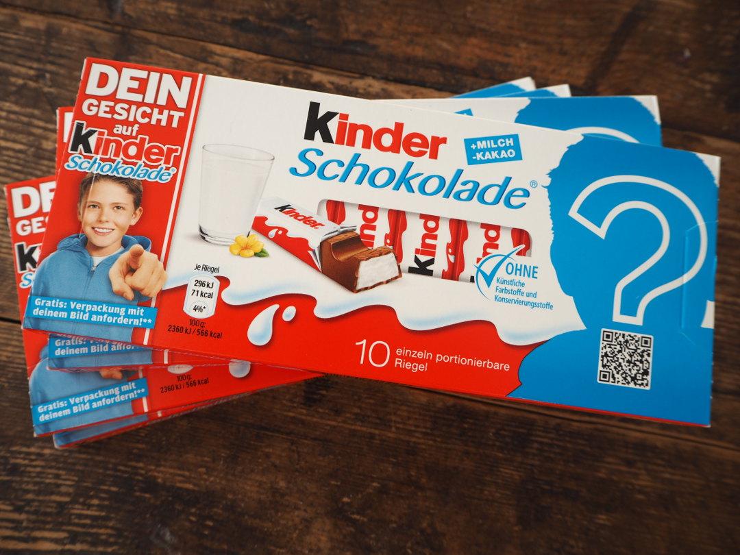 Dein Gesicht Auf Kinder Schokolade Verlosung Fräulein Ordnung
