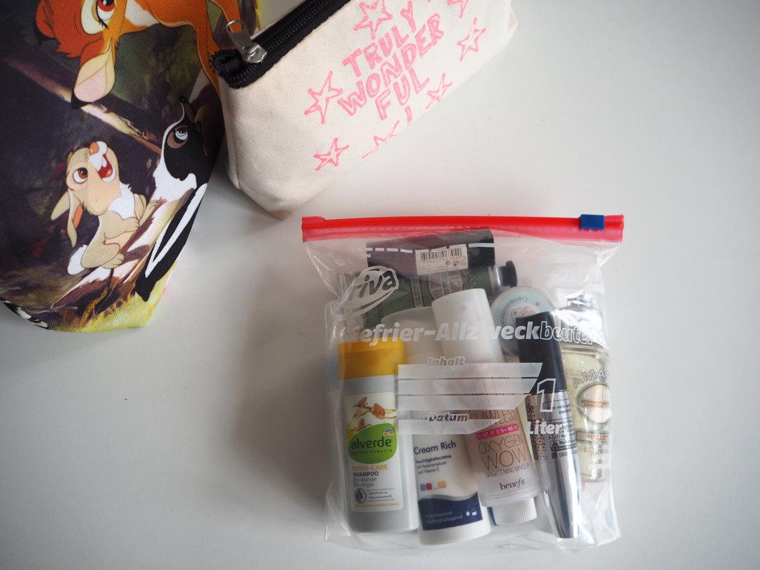 Zelt Mit Ins Flugzeug : Kurz mal weg kosmetik im handgepäck fräulein ordnung