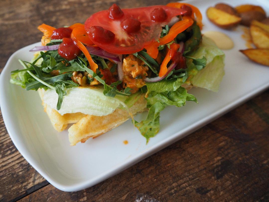Geburtstags Waffel Burger