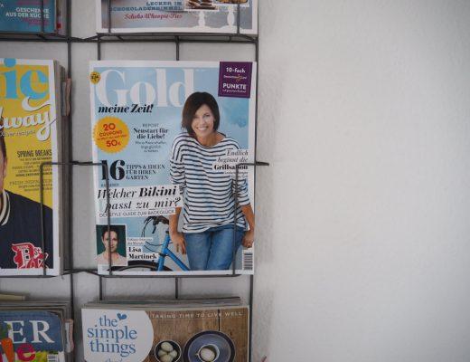 Gold - meine Zeit Zeitschriftenhalter