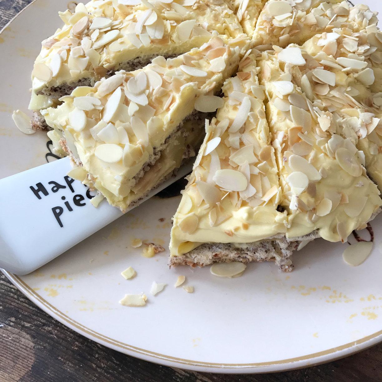 Schwedische Apfel Mandel Torte