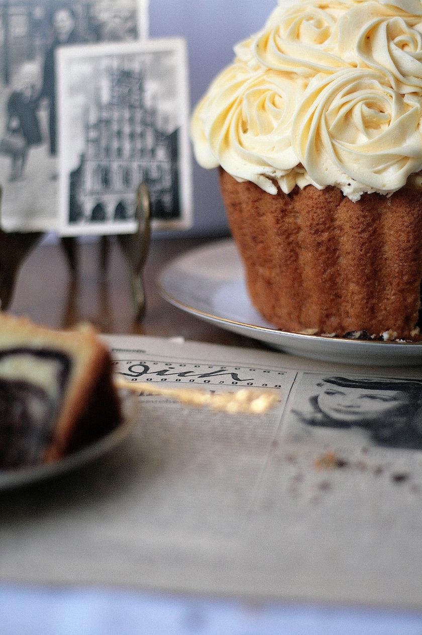 Riesen Cupcake Marmorkuchen