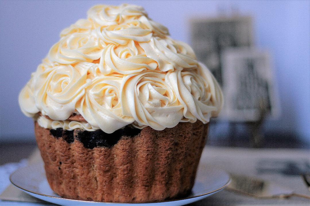 Riesen Marmorkuchen Cupcake