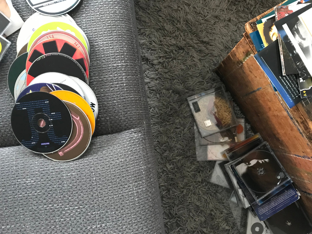 CD's aussortieren
