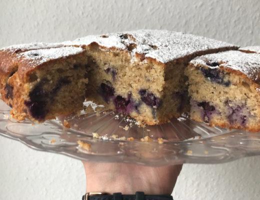 Heidelbeer-Mandel-Kuchen