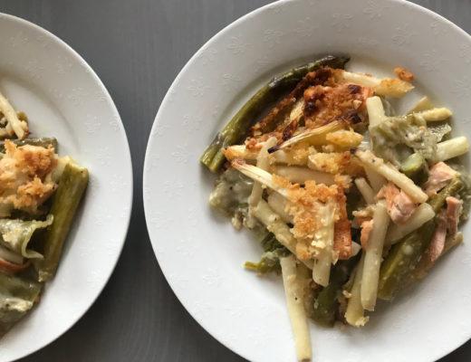 Spargel-Lachs-Lasagne