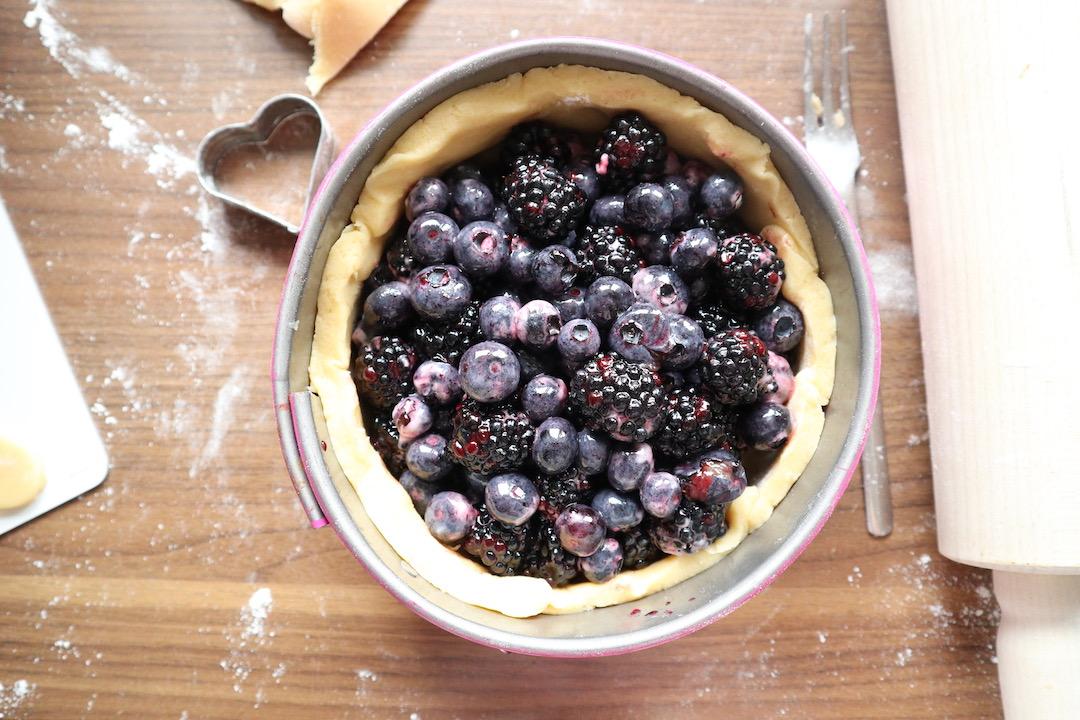 Brombeer-Heidelbeer-Pie