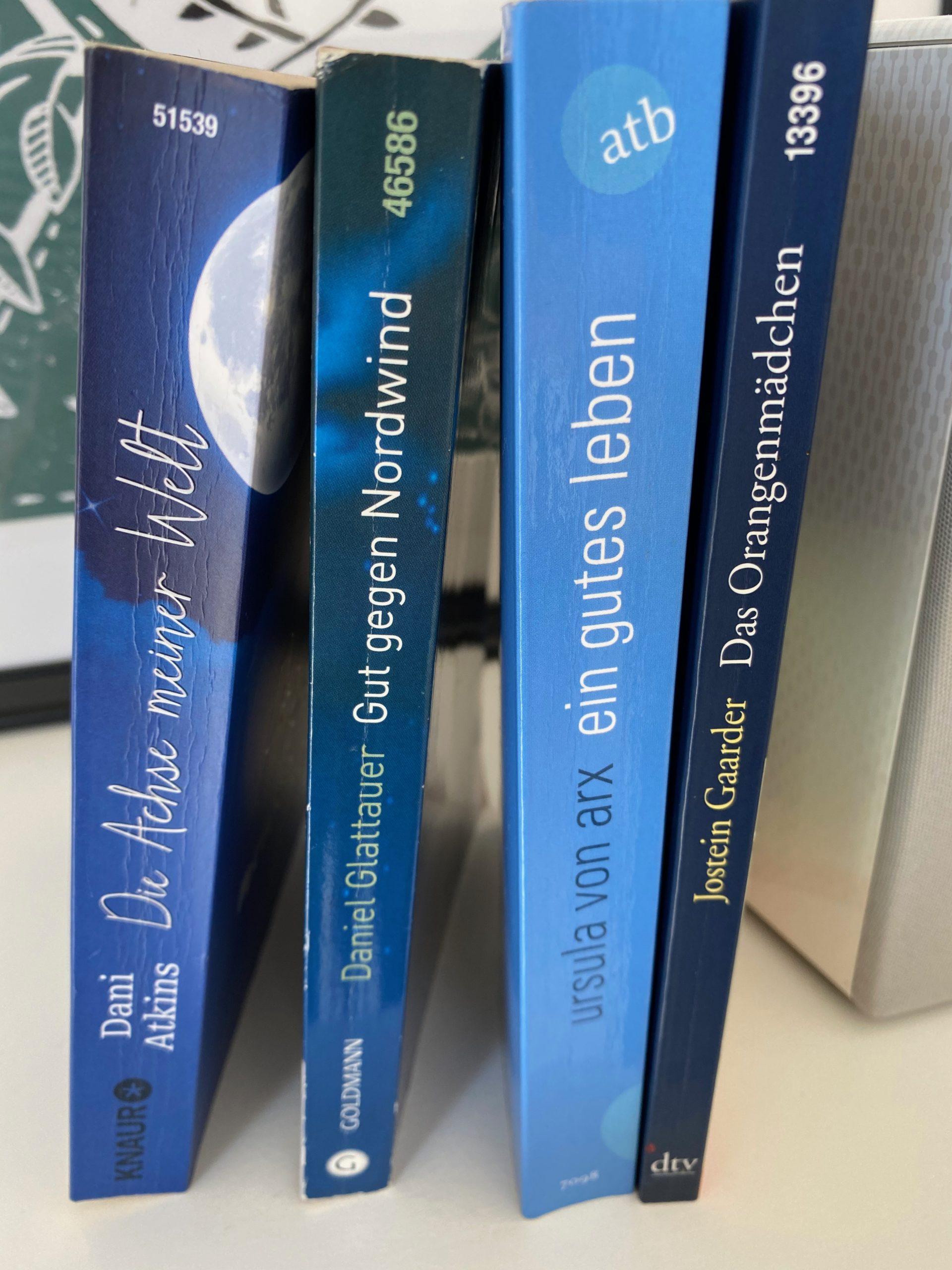 Lieblingsbücher in blau