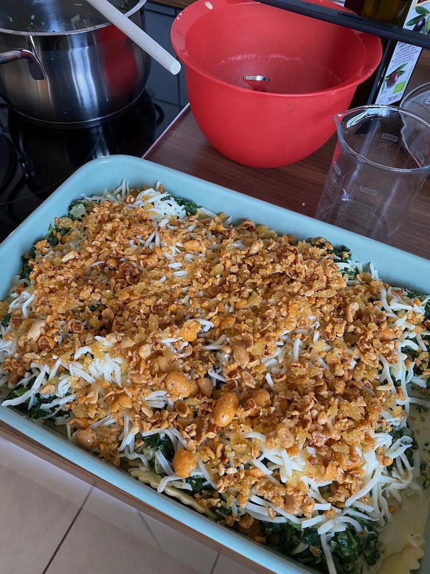 Spinat-Ravioli-Auflauf
