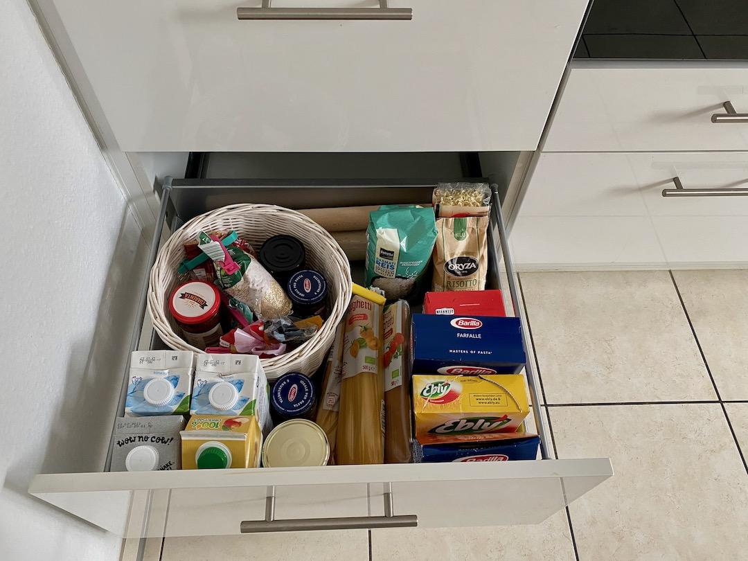 sinnvoll sortierte Küche